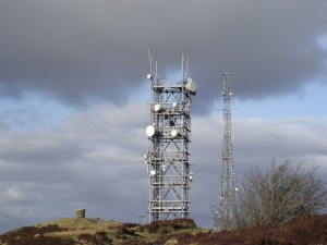 Masts on Brown Clee