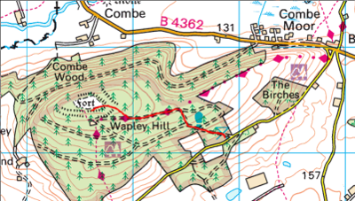 Route up Wapley Hill