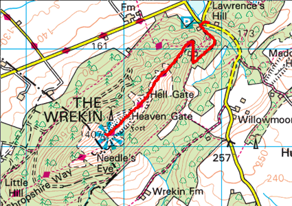 Route up the Wrekin