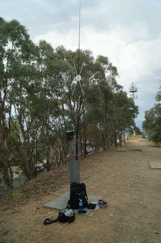 Tiny moxon antenna on the pole