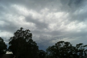 angry clouds, bit like the UK, but with warm rain ;)